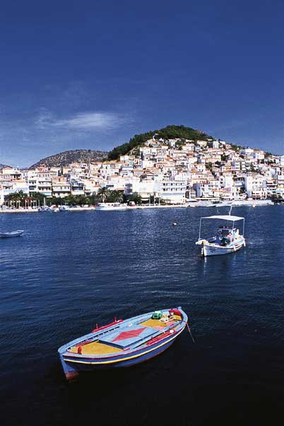 LESVOS PHOTO GALLERY - PLOMARI VIEW FROM THE SEA